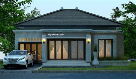 desain rumah bali modern model rumah  tampak fasade pinterest modern house