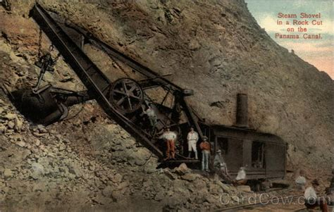 Steam E Gift Card - steam shovel in a rock cut on the panama canal panama panama