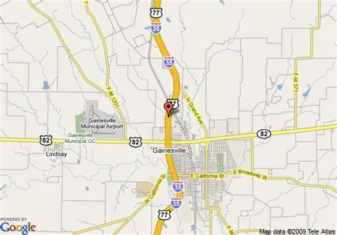 gainesville texas map map of 8 motel gainesville tx gainesville