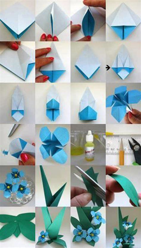 Diy Origami Flower - diy origami flowers step by step tutorials k4 craft