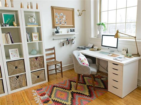 open home office tidy shelves keep your workspace uncluttered and your