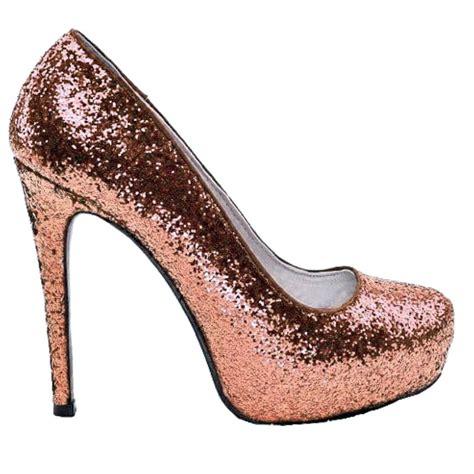 Gliter Heels s sparkly metallic gold pink glitter heels
