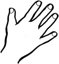 Hand outline finger coloring page coloring sky