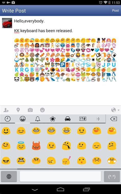 emoticon keyboard android emoji keyboard emoticons kk screenshot