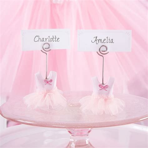 Baby Shower Place Card Holders by Ballerina Place Card Holders Baby Shower Favors