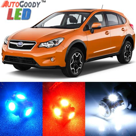 premium interior led lights package upgrade for subaru xv