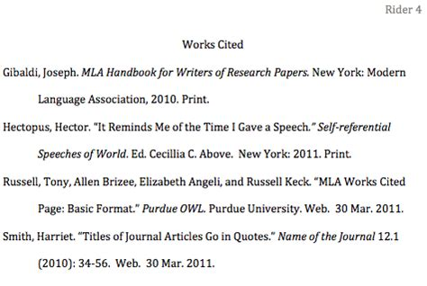 Research Paper Work Cited by How To Format The Works Cited Page In Mla Style Jerz S Literacy Weblog