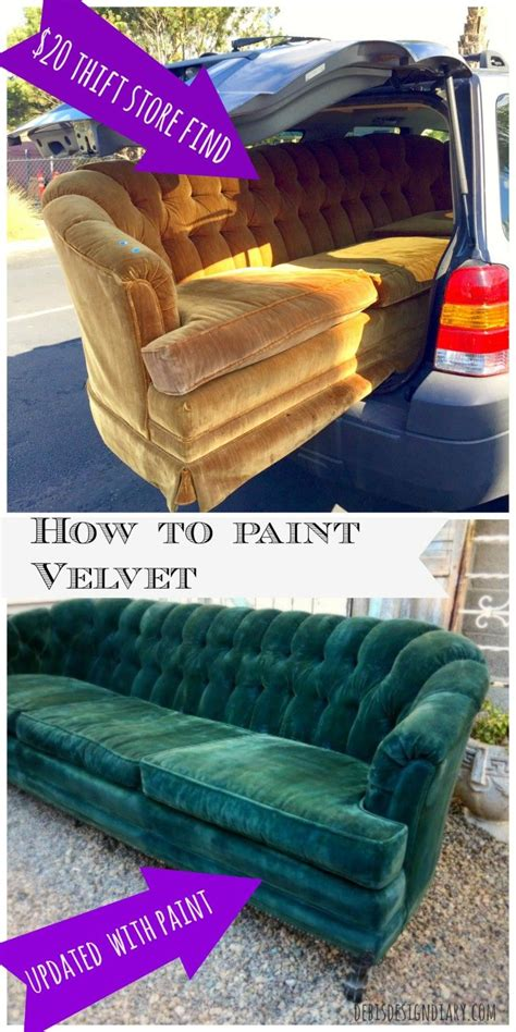 How To Remove Paint From Upholstery by How To Paint Velvet Upholstery Antique Makeover In