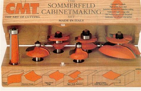 CMT Cabinet Making Router Bit Set 800.515.11   Mike's Tools