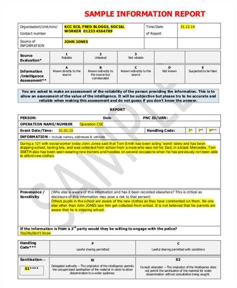 information report templates  word  google