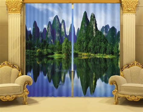 scenery curtains aliexpress com buy photo print stereoscopic 3d curtains