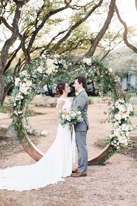 Wedding Arch Circular by Romanticly Sun Kissed Garden Wedding Ideas In