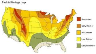 us fall leaf color map who will strong fall foliage in 2015 forecast