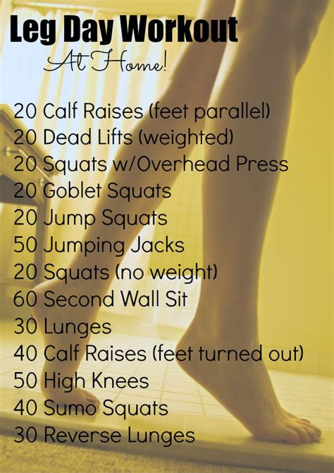 best 25 leg workout at home ideas on leg home
