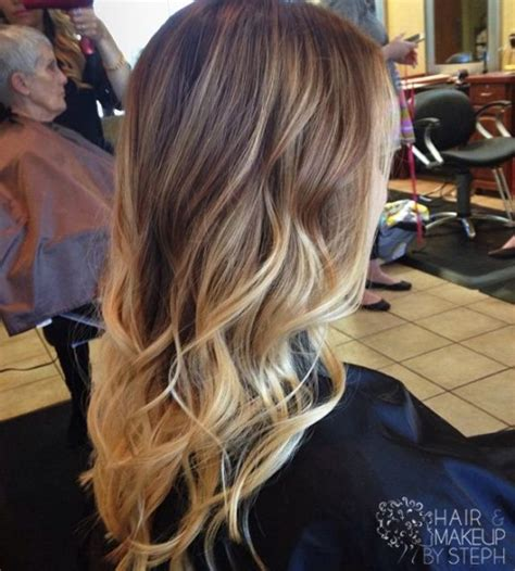 long short blonde hairstyle ideas for 2015 trendy long brown to blonde ombre hair with waves