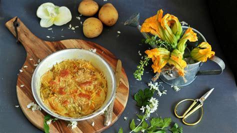 tortino di fiori di zucca ricetta tortino di fiori di zucca e patate ifood