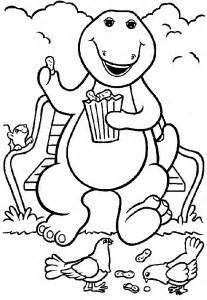 pics photos barney coloring pages