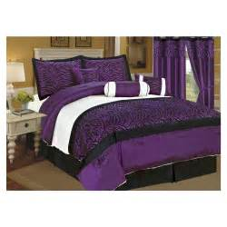 Purple And White Bedding Black White Purple Bedroom