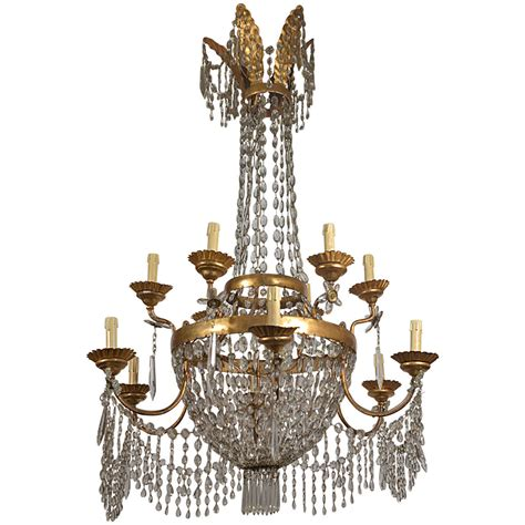 19th Century Chandelier Early 19th Century Chandelier From Lucca At 1stdibs