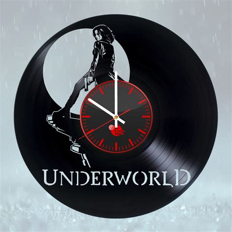 Handmade Clock - underworld selene handmade vinyl record wall clock fan
