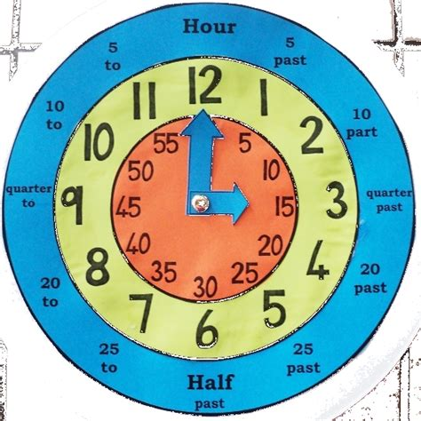 gr rr 3 math make your own clock template pdf one