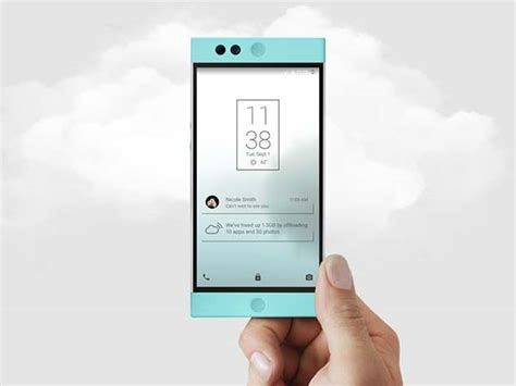 the cloud for android the robin is a cloud based android smartphone gadgetsin