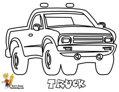 easy truck coloring coloring pages