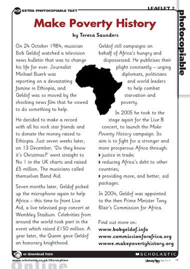 nelson mandela biography for ks2 make poverty history bob geldof free primary ks2