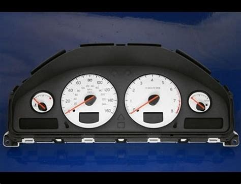 volvo     dash cluster white face gauges   ebay