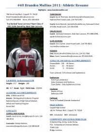 student athlete resume 1