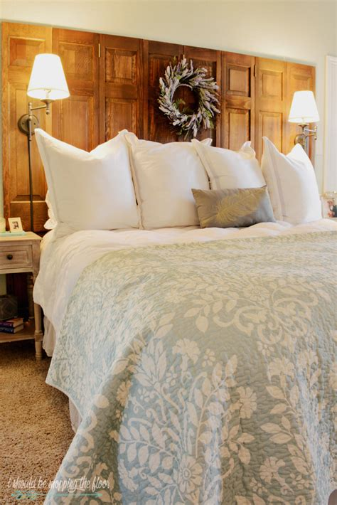 Make A Headboard From A Door by I Should Be Mopping The Floor How To Make A Headboard Out