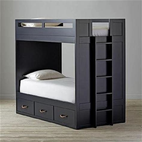 black bunk beds white three drawer bunk bed