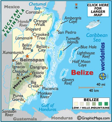 map of belize central america belize detailed interactive belize