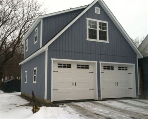 Two Story Garage Cost by Two Story Two Car Garage 24 X28 Built To Order In