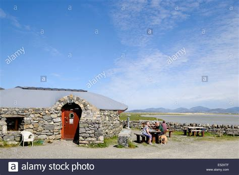 The Dining Room Northton by Customers Outside The Temple Cafe With Scenic Sea View Northton Isle Stock Photo Royalty Free