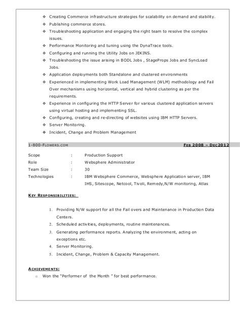 websphere commerce server administration resume
