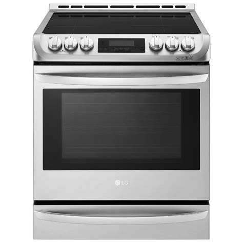 oven range lg electronics 6 3 cu ft 30 in slide in electric range