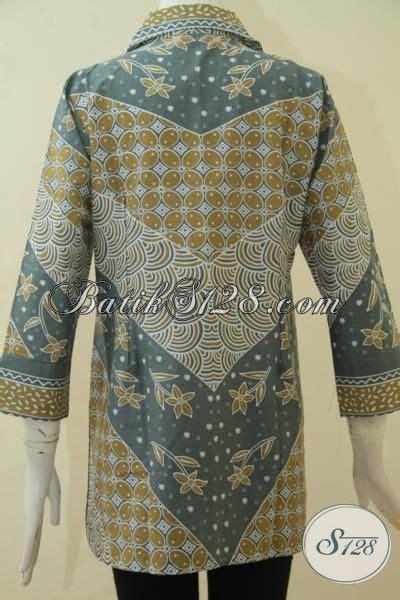 desain baju wanita keren blus batik printing desain keren trend masa kini baju