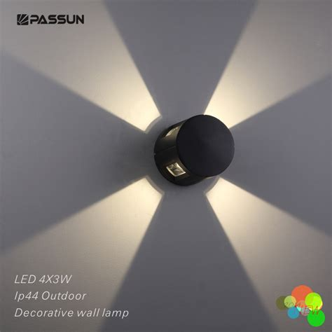 Decorative Outdoor Led Wall Lights - modern outdoor led decorative wall light 12w aluminium