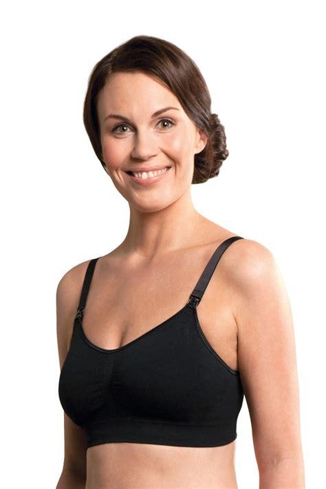 Rosa Nursing Bra Black carriwell padded seamless nursing bra in black