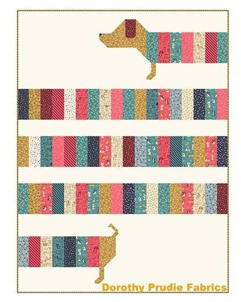 quilt pattern all wrapped up pattern doxie dog dachshund weenie dog all wrapped up