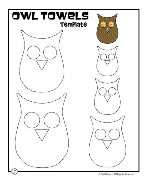 owl paper craft template owl towels printable owl template owls