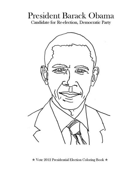 barack obama coloring page coloring home