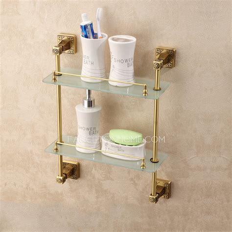 Bronze And Glass Bathroom Shelf Expensive Brass Antique Bronze Bathroom Glass Shelves