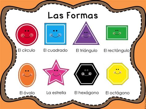 printable shapes in spanish common shapes in spanish formas comunes worksheets and
