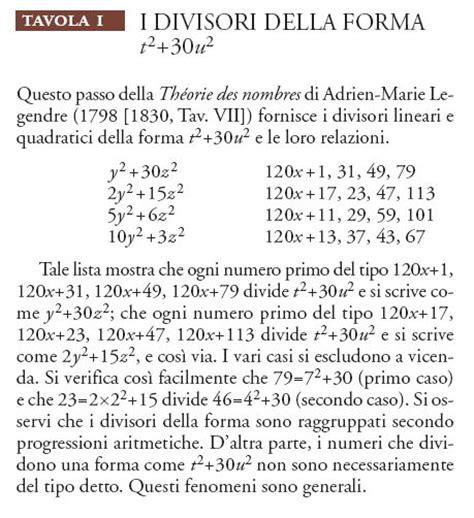 tavole dei divisori l ottocento matematica teoria dei numeri in quot storia