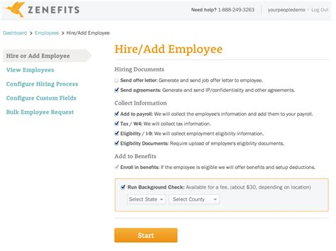 Zenefits Offer Letter New Hire Employee Onboarding Software Tools Zenefits