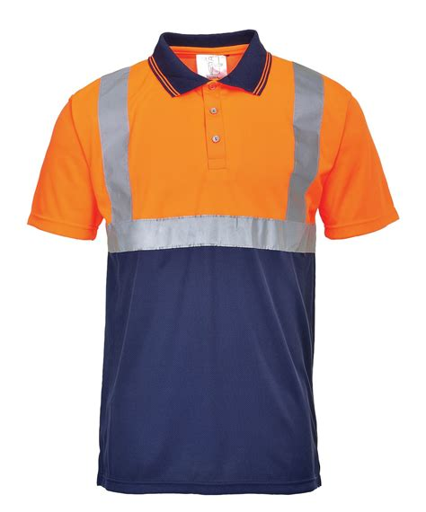 S479 3 In 1 hi vis 2 tone polo shirt sleeve high visibility