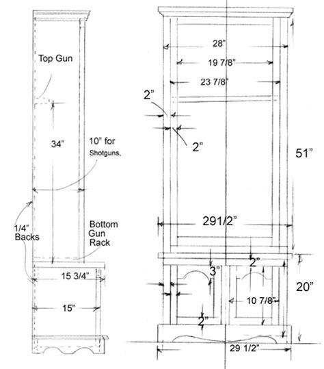 plans  basic gun cabinet plans   table