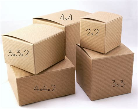 Harbox Giftbox 4 set of 10 kraft brown food safe gift boxes 4 x 4 x 4
